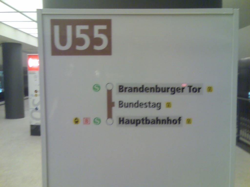 Kanzler-U-Bahn U55 Fahrstrecke